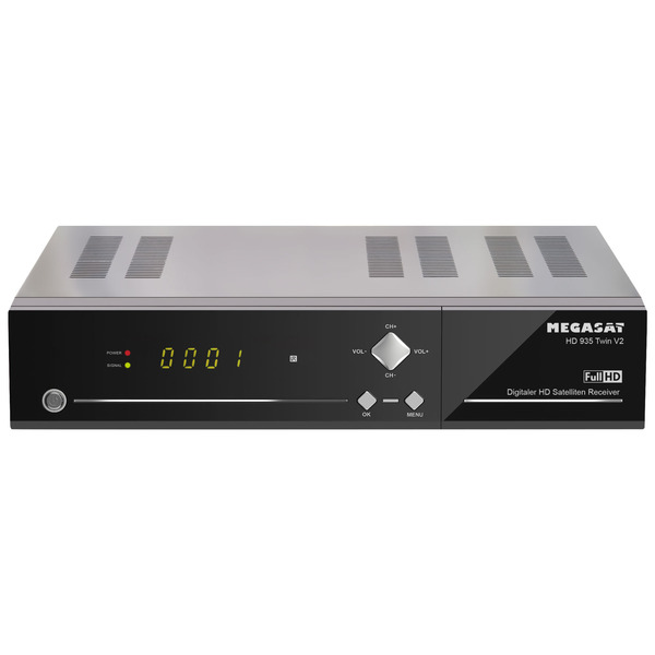 "Megasat Twin-Sat-Receiver HD 935 Twin V2, mit 2,5""-Festplatteneinschub, 1080p/Full-HD, App-Steuerung"