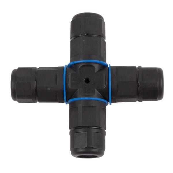 HEITRONIC Kreuz-Kabelverbinder, 3-polig, IP68, wasserdicht bis 1 m