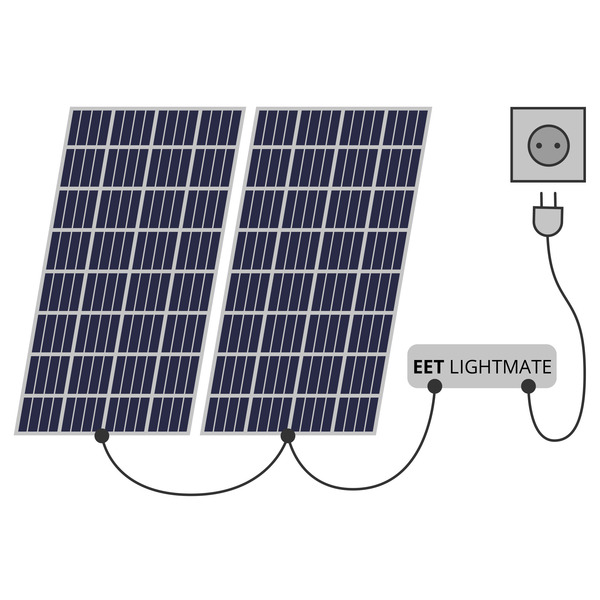 EET PLUG-IN-Photovoltaik-Balkonkraftwerk LightMate B, 210 Wp, steckerfertig