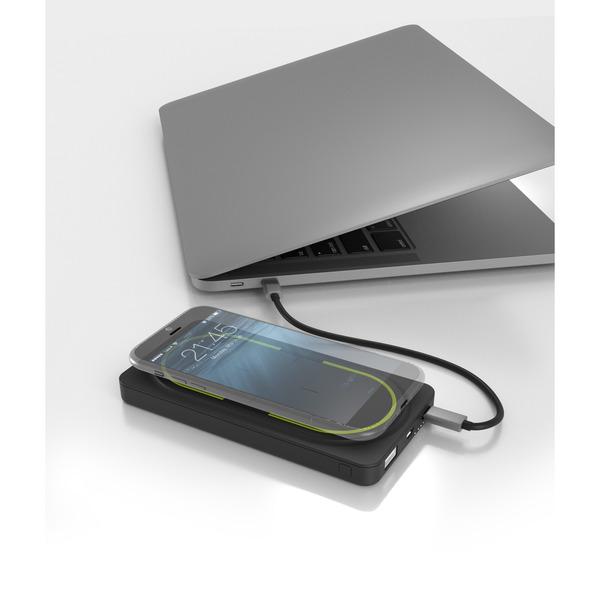 RealPower Qi-Powerbank PB-10000, mit 10.000 mAh und Power Delivery, USB-Typ-C