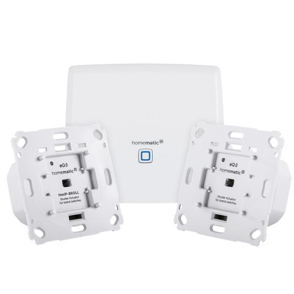 Homematic IP Starter-Set mit CCU3 und 2x Rollladenaktoren für Markenschalter