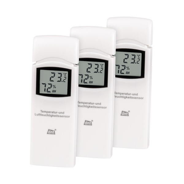 dnt 3er-Spar-Set Zusatz-Thermo-/Hygrosensor DNT000005 für dnt RoomLogg PRO und dnt WeatherScreen PRO