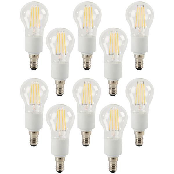 ELV 10er-Spar-Set FL BASIC DIM P40 4,5-W-LED-Tropfenlampe E14, warmweiß, dimmbar