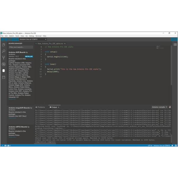 Arduino wird erwachsen - Programmierumgebung Arduino Pro IDE mit Profi-Features