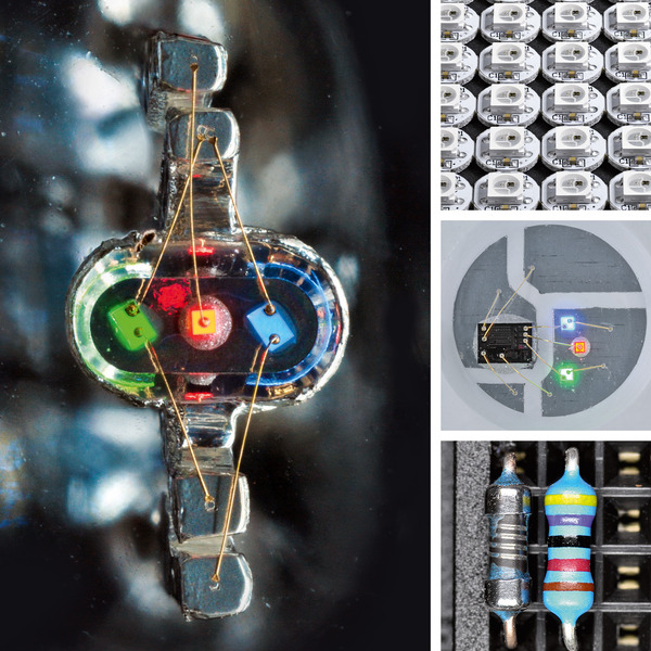 Close-up - Elektronische Bauteile unter der Lupe