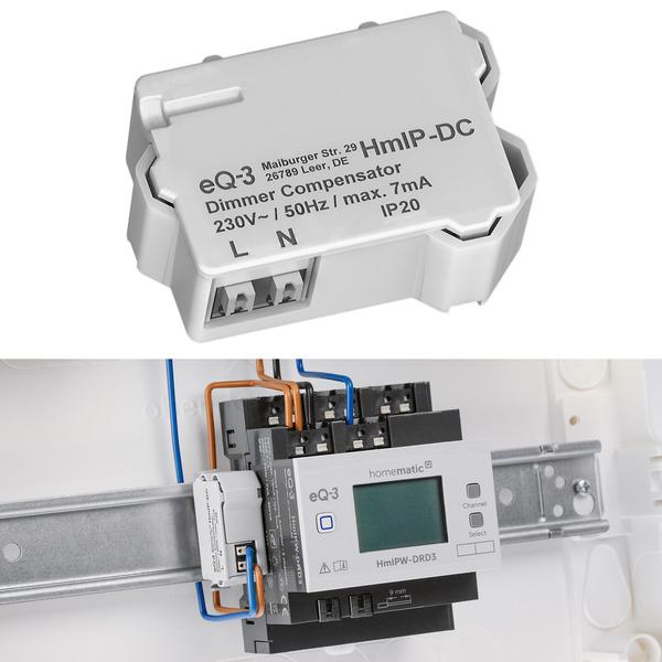 Kurz vorgestellt: Verhindert Glimmen im ausgeschalteten Zustand - Homematic IP Dimmerkompensator HmI