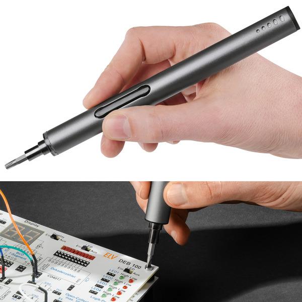 Leser testen den Elektronischer Schraubendreher SmartPen Pro mit Li-Ion-Akku