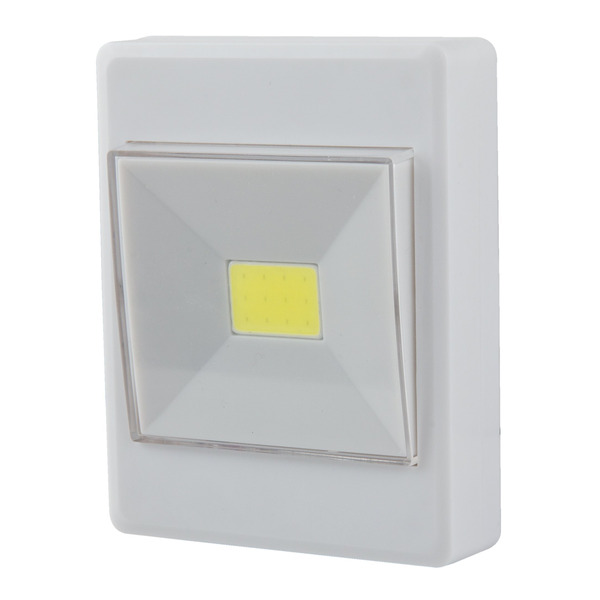 HEITRONIC LED-Orientierungslicht, Batteriebetrieb, mit Schalter, warmweiß, IP20