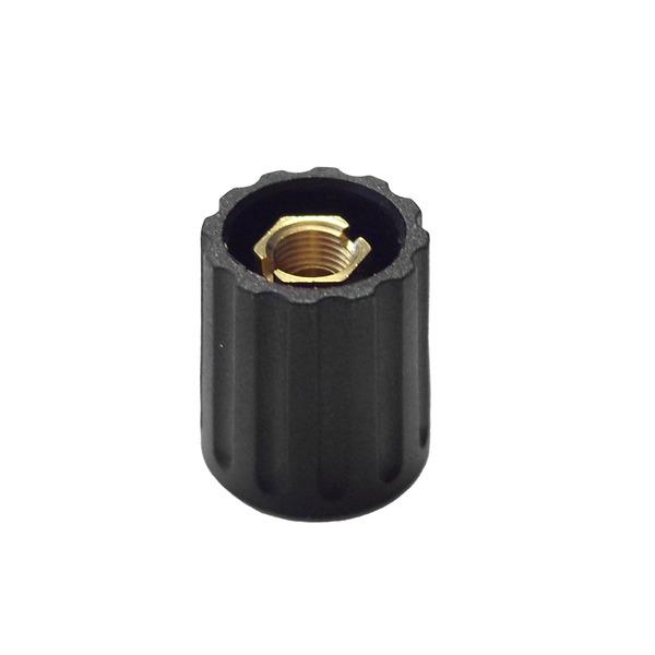 Spannzangen-Drehknopf, 14 mm Durchmesser für 6-mm-Achse