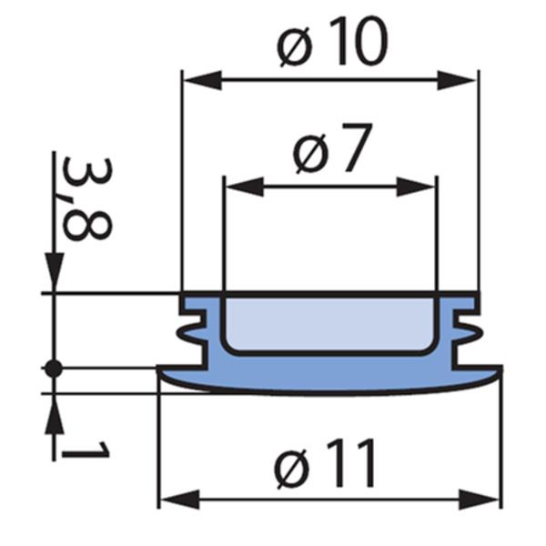 Deckel, gelb, für 14-mm-Spannzangen-Drehknopf