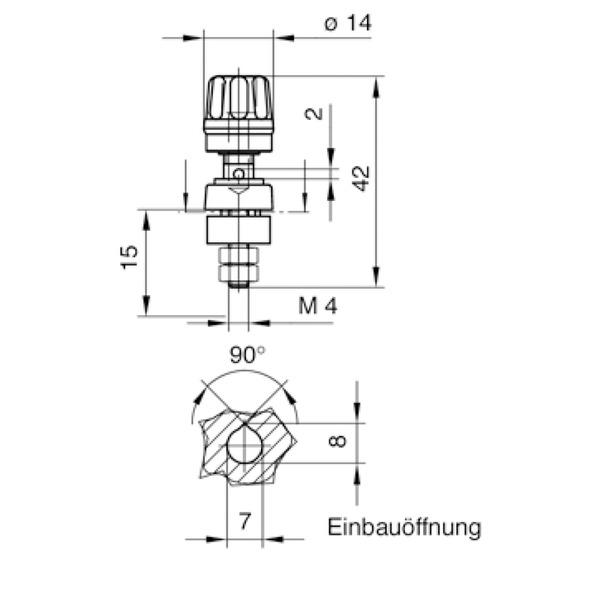 Hirschmann Polklemmen, 63 A, Rot, 4 mm