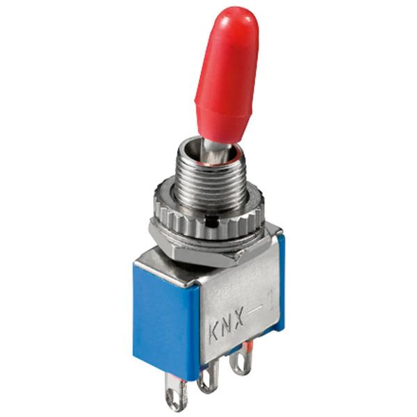 Miniatur-Kippschalter, 1 x um, 6 A/125 V oder 3 A/250 V