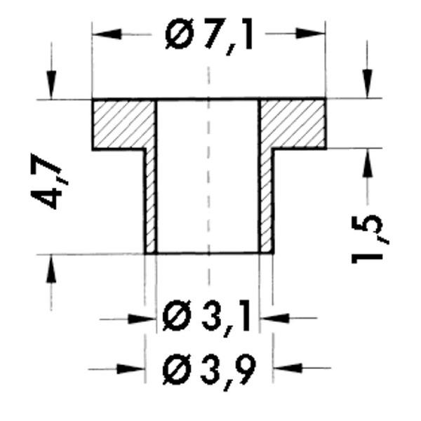 Fischer Elektronik Isolierbuchsen IB 1 für TO 3