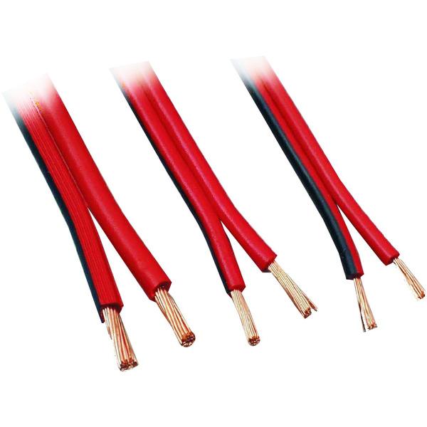 Zwillingslitze NYFAZ, Lautsprecherkabel, 2 x 1,0 mm², rot/schwarz, 20 m