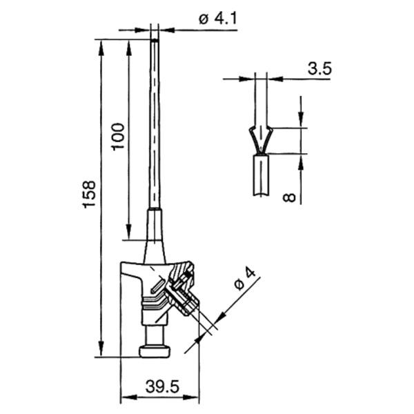 Klemmprüfspitzen KLEPS 30, 158mm, schwarz