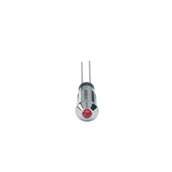 Signal-Construct LED SMQS060 mit Fassung, 3 mm, rot, 15 mcd