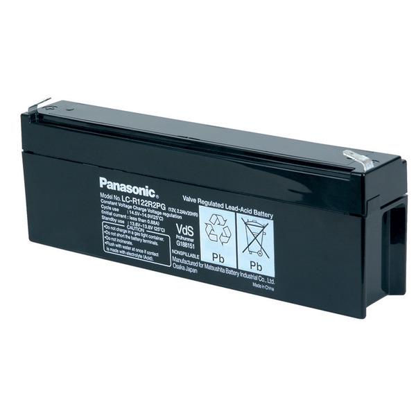 Panasonic VdS Blei-AGM-Akku LC-R122R2PD, 12V, 2,2 Ah
