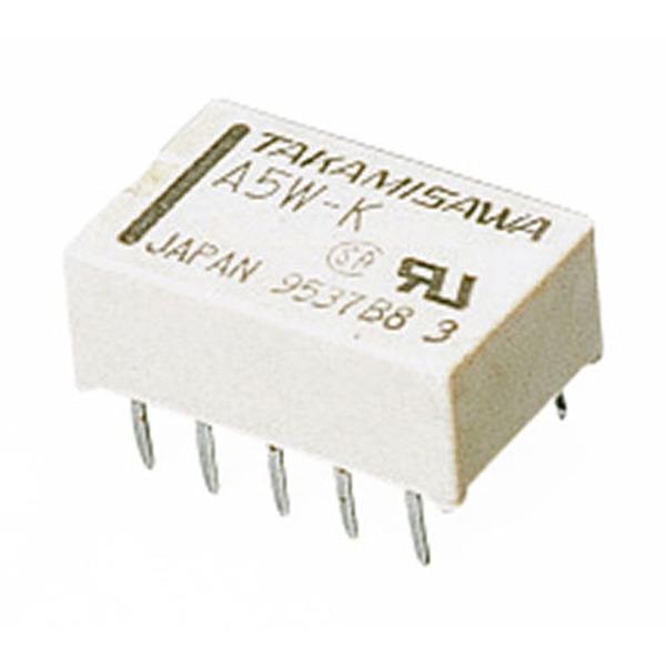 Relais, 5 V/178-Ohm-Spule, 2 x um, A-5 W-K
