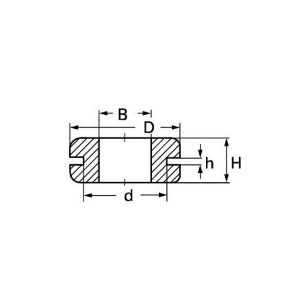 Kabel-Durchführungstülle (A x B x C x D) 10 x 13 x 17 x 4 mm