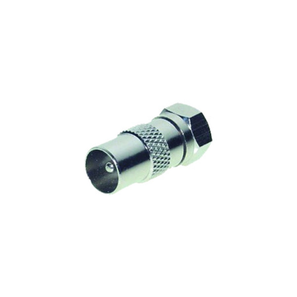übergang F-Stecker auf Koaxial-Stecker