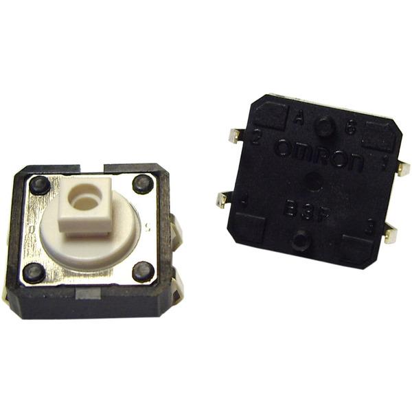 Taster B3F-4050, 1 x ein, Tastknopflänge 4 mm, Rechteckig
