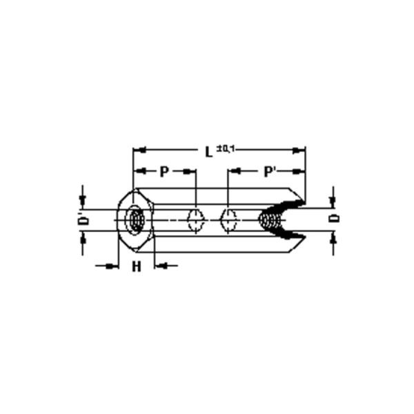 Abstandsbolzen M4, Länge 20 mm