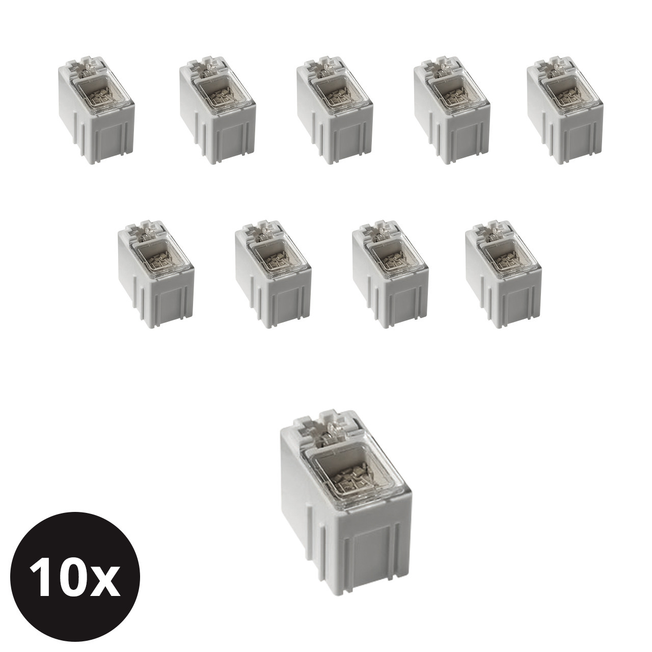 10er-Set ELV SMD-Sortierbox- Altweiss- 23 x 15-5 x 27 mm