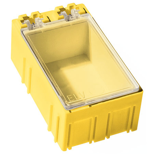 10er-Set ELV SMD-Sortierbox, Gelb, 23 x 31 x 54 mm
