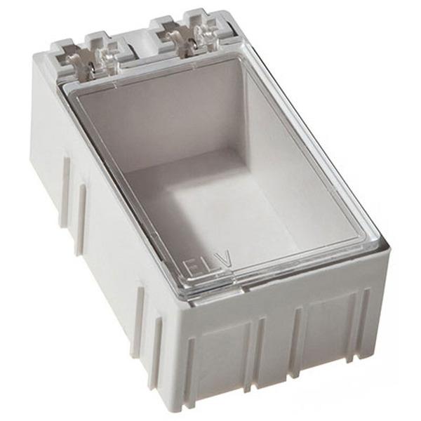 ELV 10er-Set SMD-Sortierbox, Altweiß, 23 x 31 x 54 mm