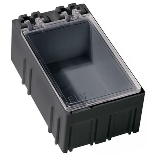 ELV 10er-Set SMD-Sortierbox, Schwarz, Antistatik, 23 x 31 x 54 mm