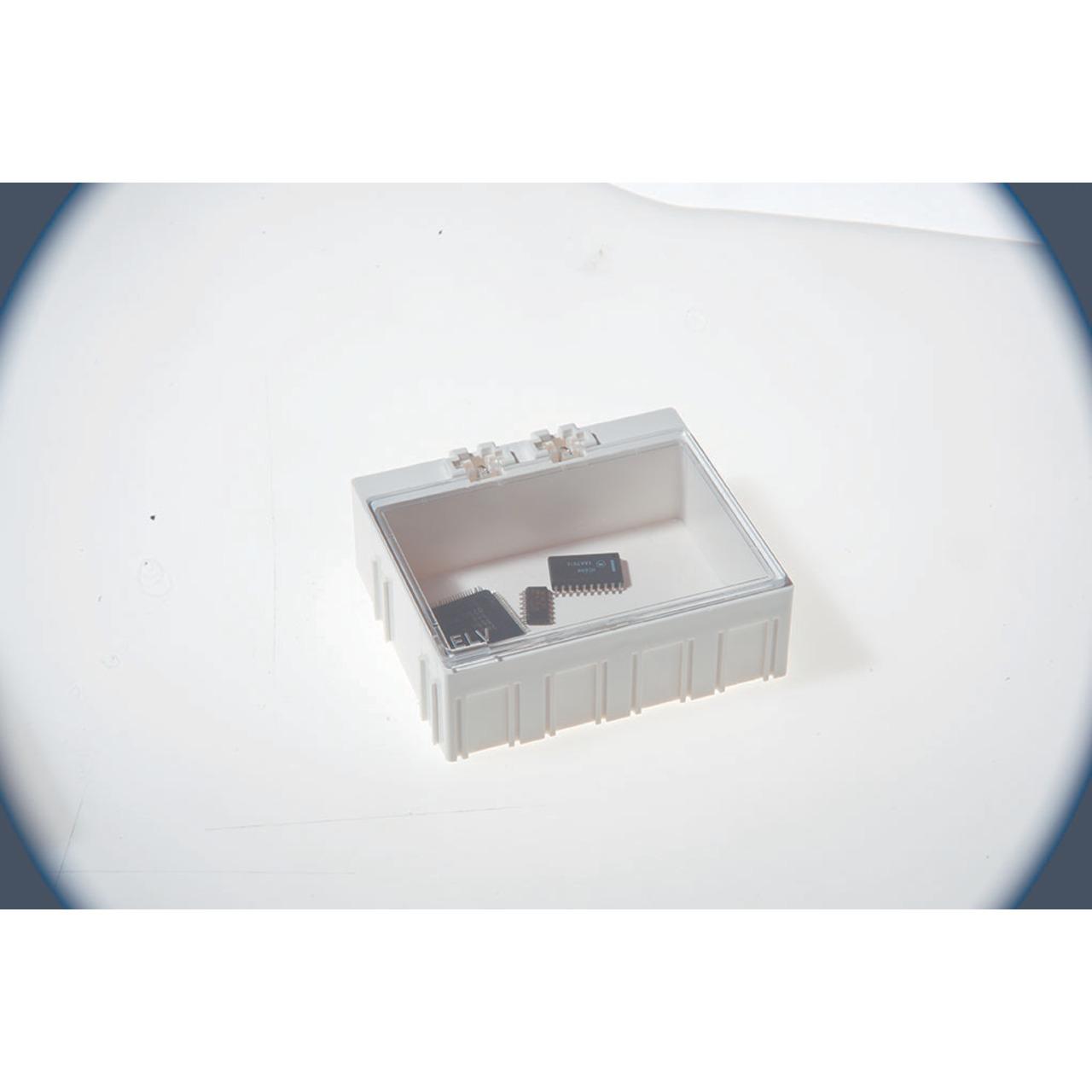 Image of 10er-Set ELV SMD-Sortierbox, Altweiß, 23 x 62 x 54 mm