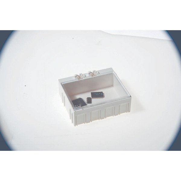 10er-Set ELV SMD-Sortierbox, Altweiß, 23 x 62 x 54 mm