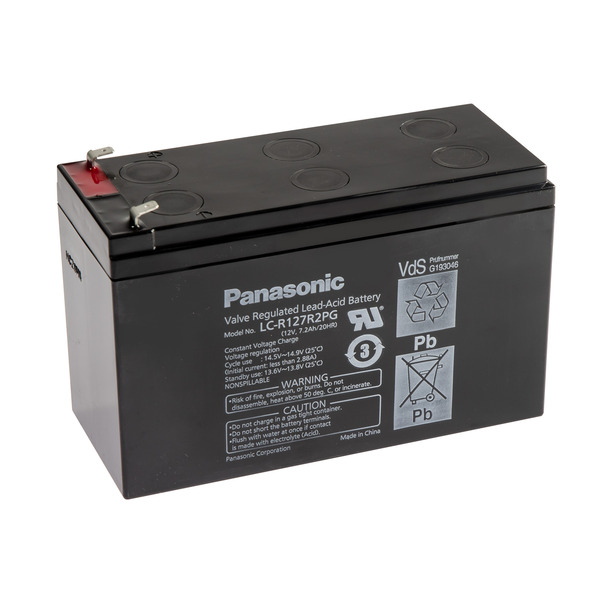 Panasonic VdS Blei-AGM-Akku LC-R127R2PG, 12V, 7,2 Ah