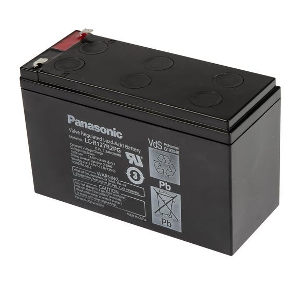 Panasonic VdS Blei-AGM-Akku LC-R127R2PG, 12V, 7,2 Ah, 4,8 mm Kabelschuh