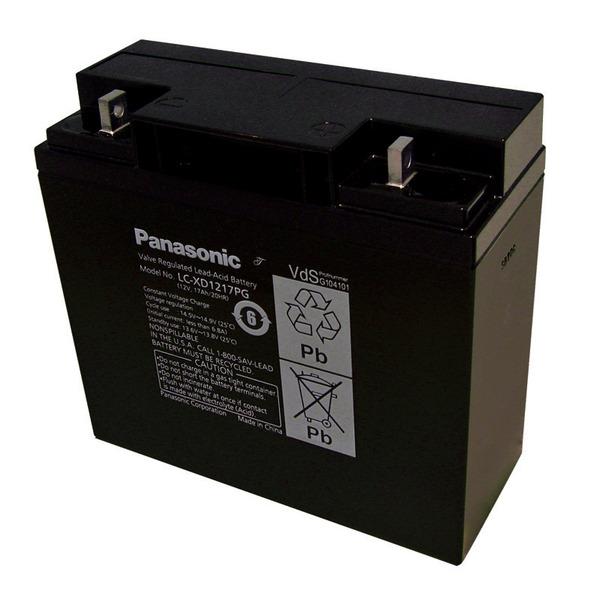 Panasonic VdS Blei-AGM-Akku LC-XD1217PG, 12V, 17 Ah