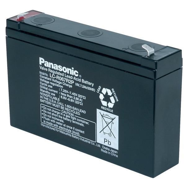 Panasonic VdS Blei-AGM-Akku LC-R067R2P, 6V, 7,2 Ah