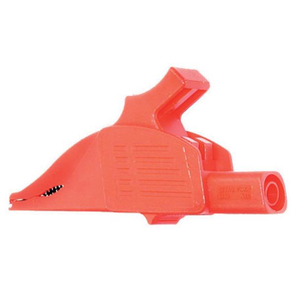 Sicherheits-Krokodilklemme XDK-1033, rot, 4 mm