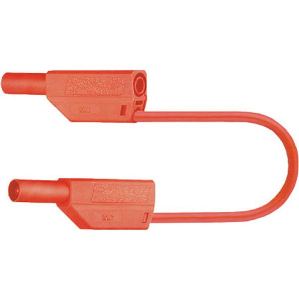Sicherheitsmessleitungen in PVC (SLK425-E/N) 4mm, 32A, 0,5m, rot