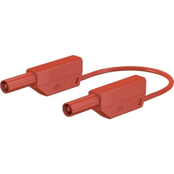 Sicherheitsmessleitungen 28.0125-10022 in PVC (SLK425-E/N) 4mm, 32A, 1m, rot