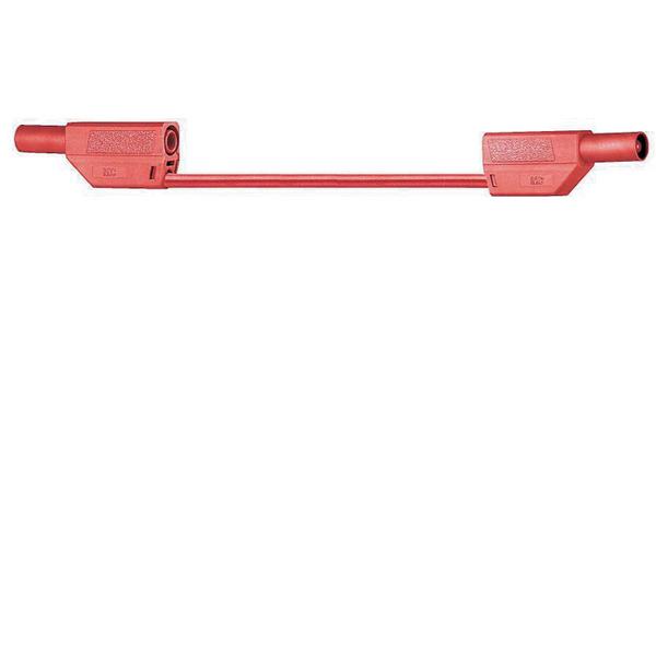 Sicherheitsmessleitungen in Silikon (SLK410-E/SIL) 4mm, 19A, 2m, rot