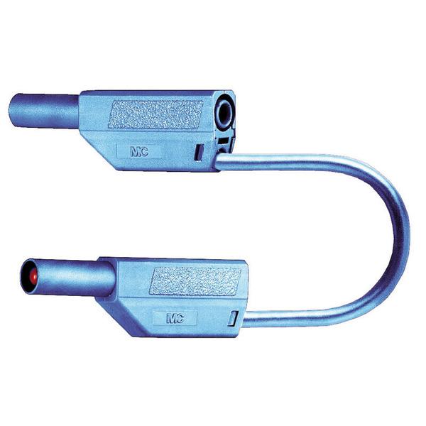 Sicherheitsmessleitungen in PVC (SLK425-E/N) 4mm, 32A, 1m, blau
