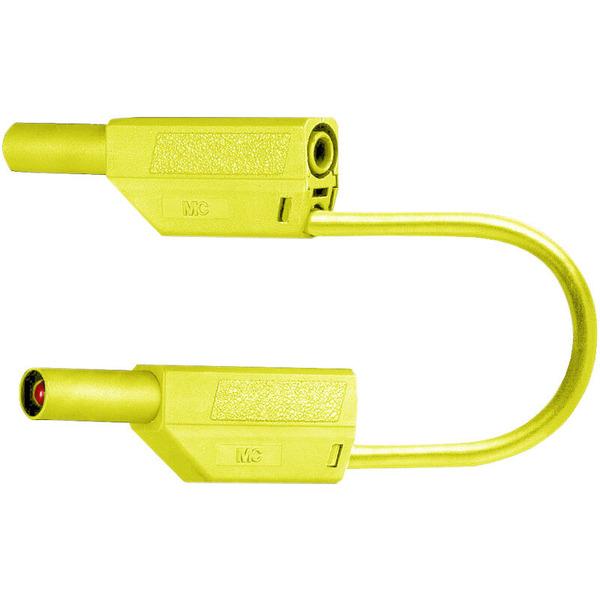Sicherheitsmessleitungen in PVC (SLK425-E/N) 4mm, 32A, 1m, gelb