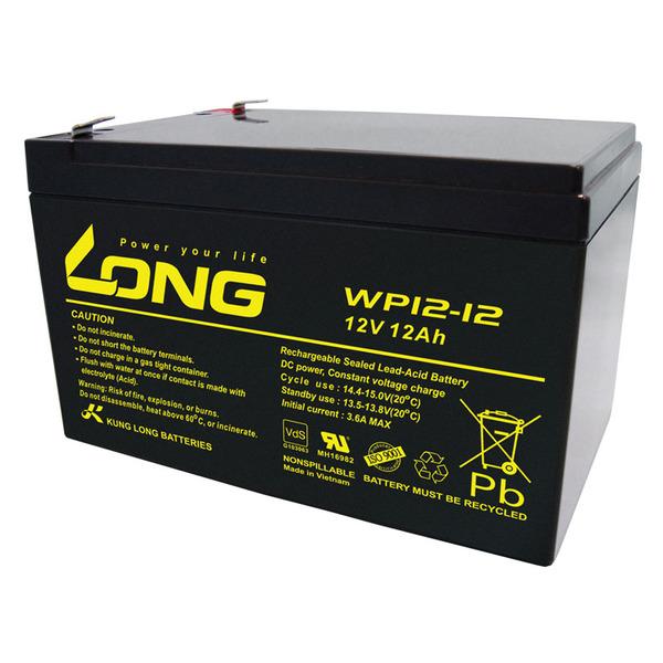 Kung Long VdS-Blei-AGM-Akku WP12-12, 12V, 12 Ah