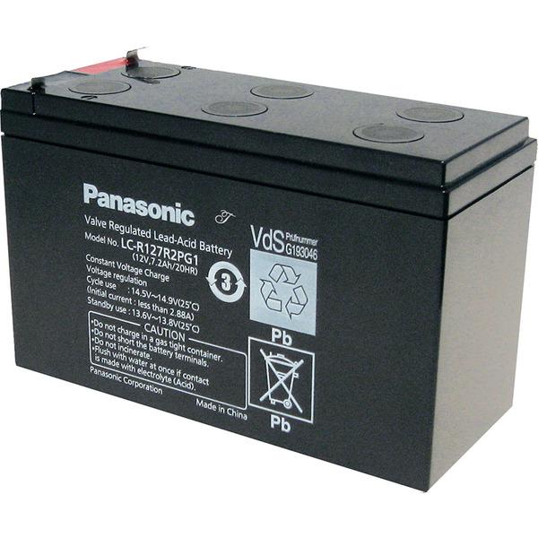 Panasonic VdS Blei-AGM-Akku LC-R127R2PG1, 12V, 7,2 Ah, 6,3 mm Kabelschuh