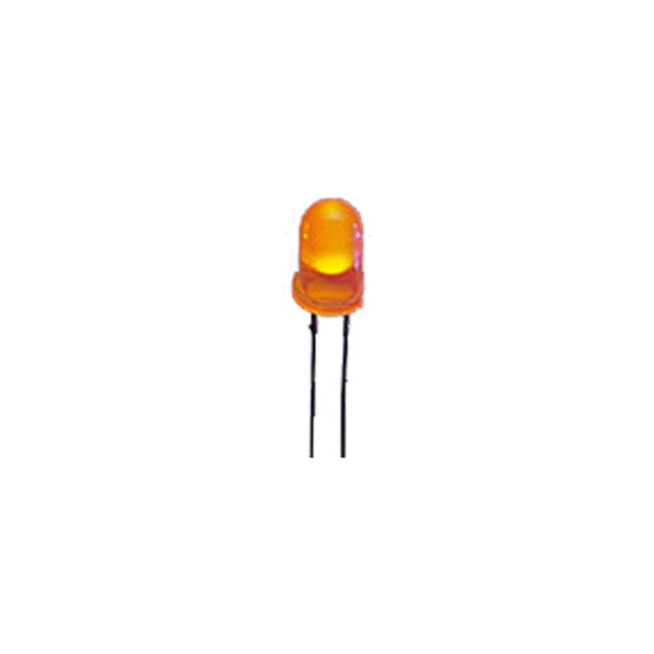 Superhelle 5 mm LED, Orange, 2.500 mcd