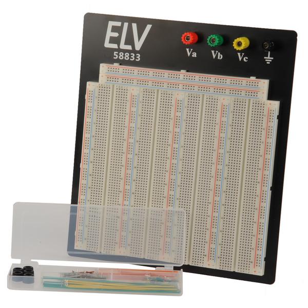 ELV Steckplatine/Breadboard 108 J, 3220 Kontakte, inkl. 140-teiligem Drahtbrücken-Set