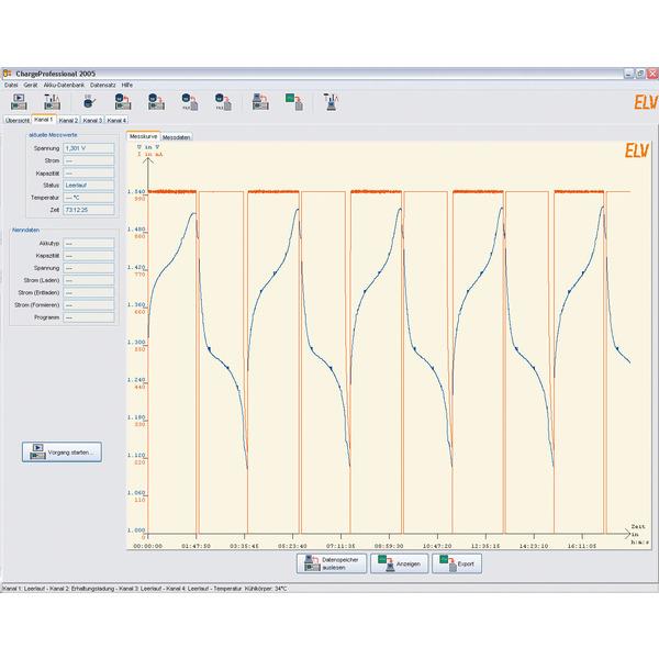 ELV Komplettbausatz Akku-Lade-Center ALC 8500 Expert-2, inkl. PC-Software, USB 2.0 Kabel