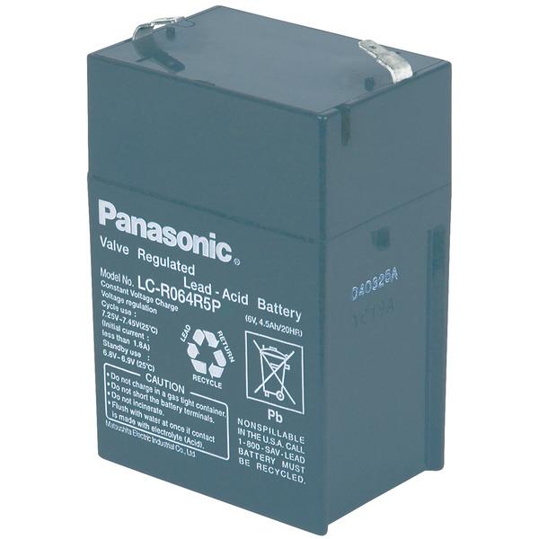 Panasonic VdS Blei-AGM-Akku LC-R064R5P, 6V, 4,5 Ah