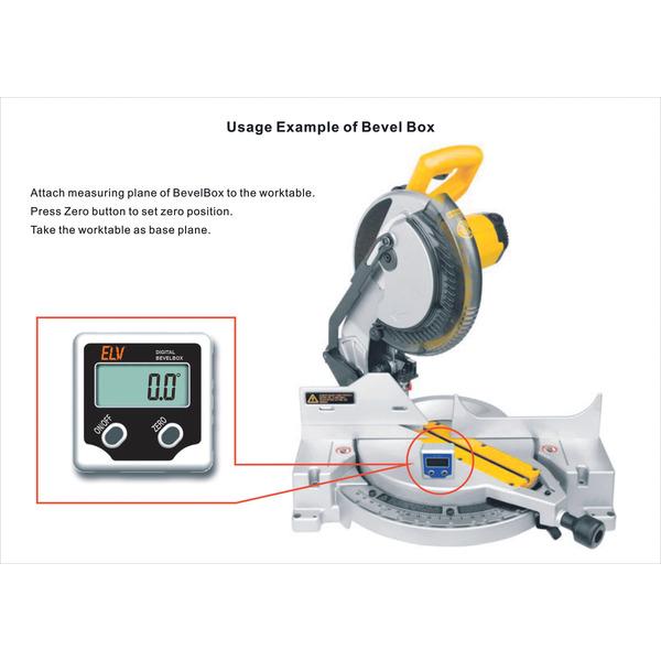 ELV Bevel Box 360° Neigungssensor, digitale Wasserwaage