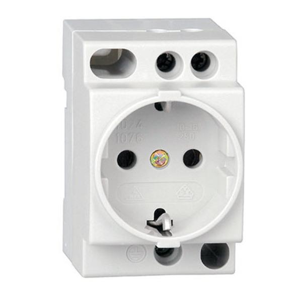 Kopp Einbausteckdose 16 A, 250 V nach DIN VDE 0620